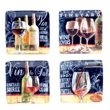 "House Wine 6"" Canape Plate (Set of 4)"