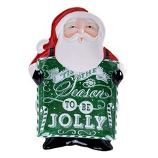 Chalkboard Christmas 3D Platter Santa