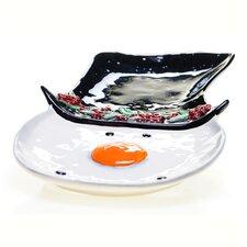 Top Hat Snowman 3-D Platter