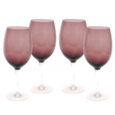 Glass Stemware Amethyst White Wine Glasses (Set of 4)