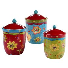 Tunisian Sunset 3-Piece Canister Set