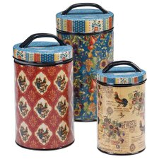 French Country 3-Piece Canister Set