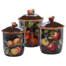Capri 3 Piece Canister Set