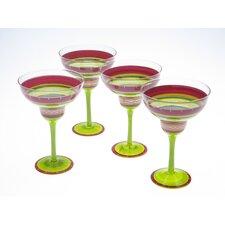 Hot Tamale Hand Painted 12 Oz. Margarita Glass (Set of 4)