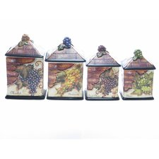Wine Cellar by Tre Studios 4-Piece Canister Set