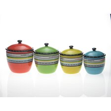 Santa Fe by Nancy Green 4-Piece Canister Set