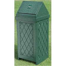 Swing Top New England Trash Receptacle