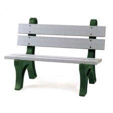 High Back Plastic Park Bench