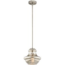 Everly 1 Light Schoolhouse Pendant