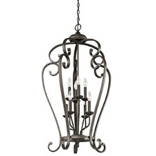 Monroe 8 Light Foyer Cage Chandelier