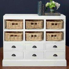 Nantucket 6 Drawer and 6 Basket Storage Cabinet