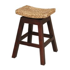 "Sanibel 24"" Swivel Bar Stool in Dark Brown Hyacinth"