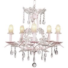 Cinderella 5 Light Chandelier with Bulb Cover Shade