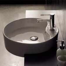 Geo Semi Recessed Single Hole Bathroom Sink