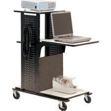 4-Shelf Mobile Presentation Station