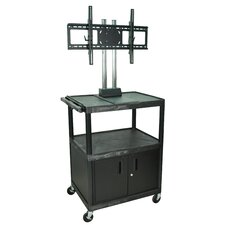 Tuffy Mobile Flat Panel TV Cart with Locking Cabinet