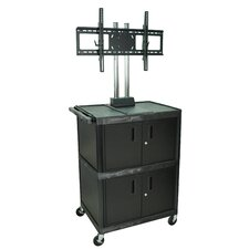 Tuffy Mobile Flat Panel Cart with Cabinet