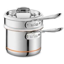 Copper Core 1.5-qt. Double Boiler with Lid