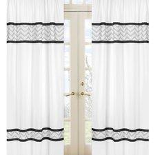 Zig Zag Cotton Curtain Panel (Set of 2)