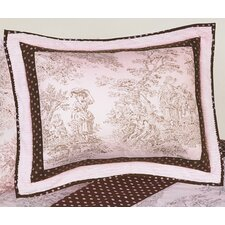 Pink and Brown Toile Sham