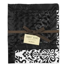 Isabella Black and White Baby Blanket