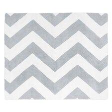 Chevron Gray / White Area Rug