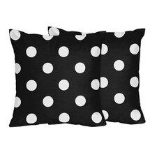 Hot Dot Cotton Throw Pillow (Set of 2)