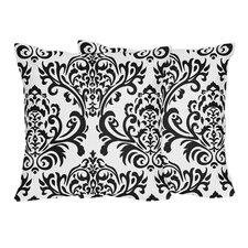Isabella Damask Cotton Throw Pillow (Set of 2)