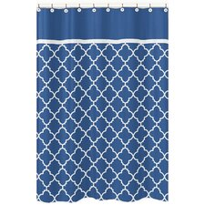 Trellis Brushed Microfiber Shower Curtain