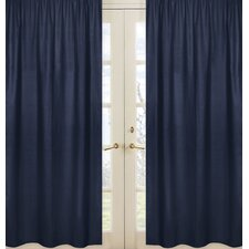 Space Galaxy Window Curtain Panel (Set of 2)