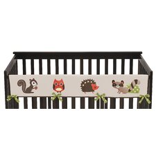 Forest Friends Long Crib Rail Guard Cover