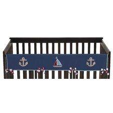 Nautical Nights Long Crib Rail Guard Cover