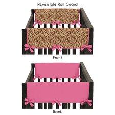 Cheetah Girl Side Crib Rail Guard Cover (Set of 2)