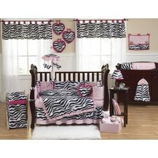 Zebra 9 Piece Crib Bedding Set