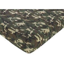 Camo Printed Crib Fitted Sheet