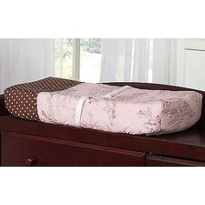 Pink and Brown Toile Collection Changing Pad Cover
