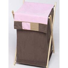 Soho Pink and Brown Laundry Hamper