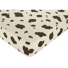 Wild West Cow Print Fitted Crib Sheet