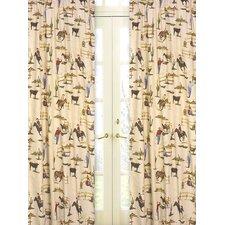Wild West Cowboy Print Cotton Curtain Panels (Set of 2)