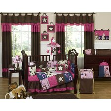 Cowgirl 9 Piece Crib Bedding Set