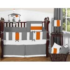 Stripe 9 Piece Crib Bedding Set