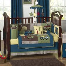 Construction 9 Piece Crib Bedding Set