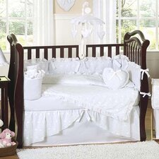Eyelet White 9 Piece Crib Bedding Set