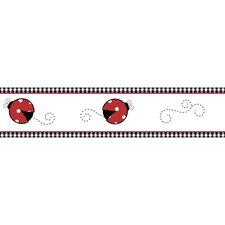 "Little Ladybug 15' x 6"" Wildlife Border Wallpaper"
