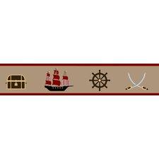 """Pirate Treasure Cove 15' x 6"""" Border Wallpaper"""