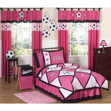 Soccer Pink Kid Comforter Collection