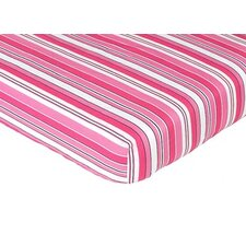 Madison Striped Fitted Crib Sheet