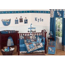 Surf Blue 9 Piece Crib Bedding Set
