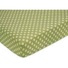 Forest Friends Polka Dot Fitted Crib Sheet