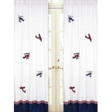 Vintage Aviator Curtain Panels (Set of 2)